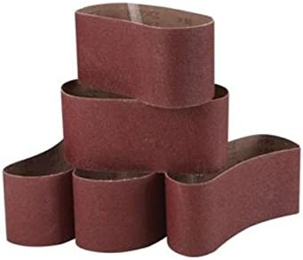 ChenXi Shop 10 Pieces 550x30mm Alumina Abrasive Sanding Belts 800 Grit