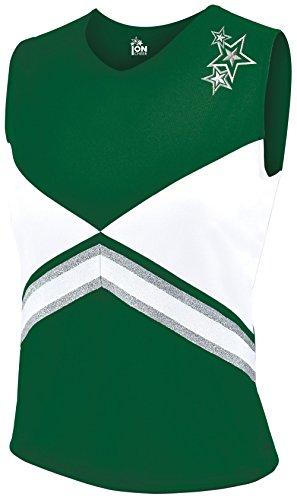 Revolution Cheer Uniform Shell Top - Dark Green Youth Small