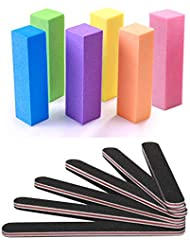 Nail Files and Buffer, TsMADDTs Professional Manicure Tools Kit Rectangular Art Care Buffer Block Tools 100/180 Grit 12Pcs/Pack