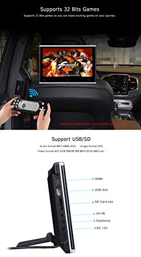 Dual Headrest DVD Player for Car Backseat Video Monitor Auto Rear Seat Entertainment System Touch Screen HD 1080P with DVD USB SD by AUTOWINGS (Image #5)