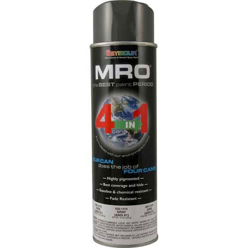 MRO Industrial Enamel 15 to 17 Oz. Gray(ANSI61) 6 Cans/Case