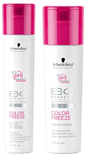 BC Bonacure COLOR FREEZE Silver Shampoo and Conditioner Set