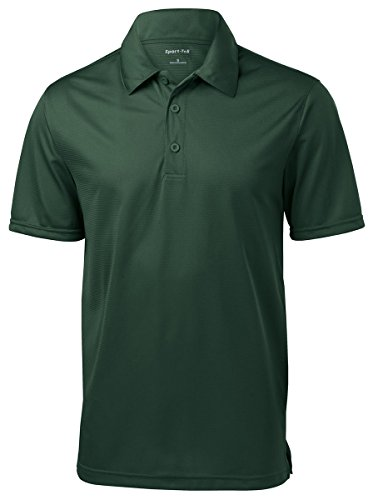(Sport-Tek Mens PosiCharge Active Textured Polo, 2XL, Forest Green)
