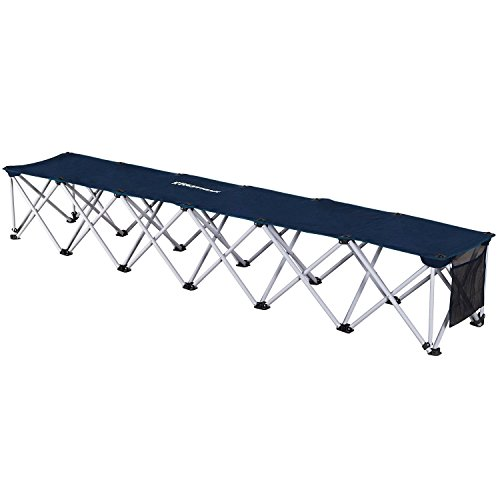 Fastraxx 6-Person Foldeable Sports Bench, Navy