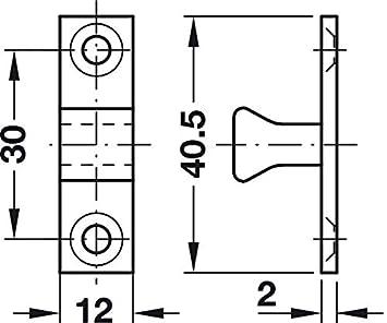 8 x 43 mm PROFI IDEAL 2 St/ück Gedotec Doppel-Kugelschn/äpper Messing M/öbel-Schnapper Schrank-T/üren /& M/öbel T/ür-Verschluss zum Schrauben Schnapp-Riegel mit verstellbaren Chrom-Stahlkugeln