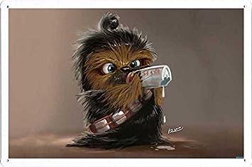 Amazon.com: Mascota Póster bebé Chewie Cartel de chapa Placa ...