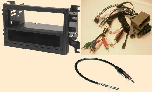 Radio Stereo Install Dash Kit (single and double din) + Steering control wiring + canbus wire harness + antenna adapter for Ford Edge (07-10), Expedition (07-12), Explorer (06-10), Sport Trac (07-10), Fusion (06-2010), Lincoln Mkx (2007-09), Mkz with Navigation (07-2012), Navigator with THX or Navigation (07-12) - Mercury Milan (2006-2009), Mountai...