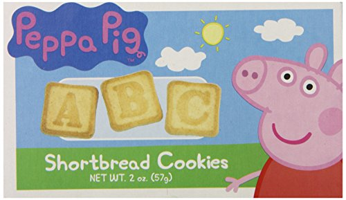 Peppa Pig ABC Shortbread Cookie Box With 2-1oz. Single Serve -