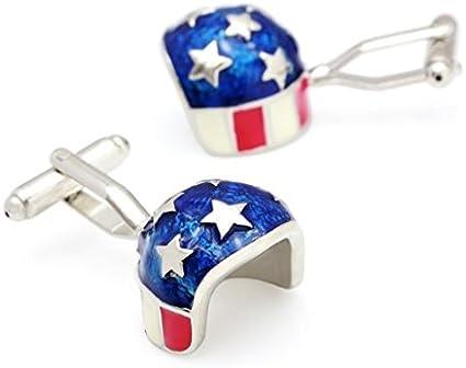 Gemelos para Camisa Casco de Moto USA Barras y Estrellas: Amazon.es: Ropa y accesorios