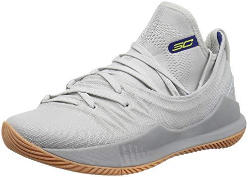 Footwear Curry (Under Armour Boys' Grade School Curry 5 Basketball Shoe, Elemental (105)/Overcast Gray, 4.5)