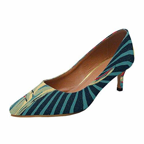 Scarpe Da Donna Low Cost Con Tallone Gattino Scarpe Con Punta A Punta Scarpe Rock N Roll Multi 1