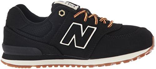 New Balance 574, Zapatillas Unisex Niños Negro (Black)