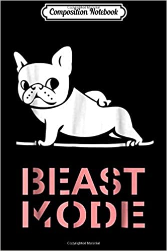 Composition Notebook: French Bulldog Yoga T- by Huebucket ...