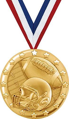 フットボールメダル – 2インチゴールドフットボールチームメダル賞プライム。 B07GDT1J72  100