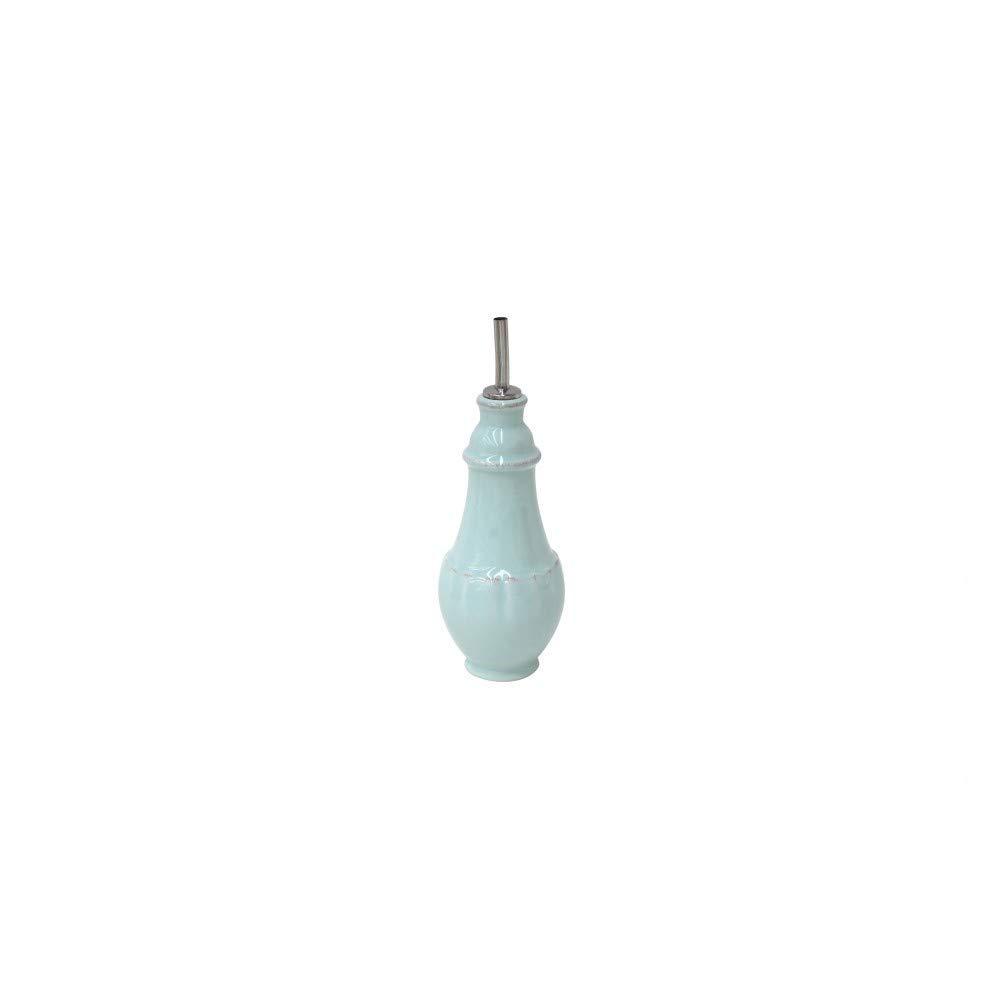 Casafina Stoneware Ceramic Impressions Collection Cruet D3.25'' H7.25'' 10.75oz Robins Egg Blue by Casafina