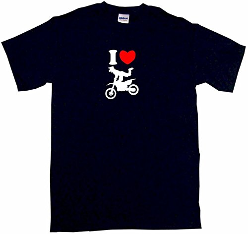 Snap Heart Fiber Carbon (I Heart Love Motocross Guy Kick Logo Little Boy's Kids Tee Shirt 7T-Black)