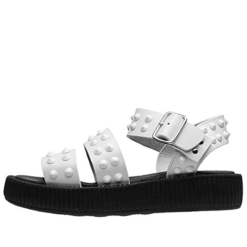 Studded EU41 Buckle White UKW8 K Sandal Edition Limited T Women's U Shoes Wn0SqqR6w