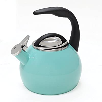 Chantal 37-ann Aq Enamel On Steel 40th Anniversary Teakettle; 2 Quart; Aqua