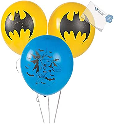 Latex Batman Balloons (With Sticky Notes)