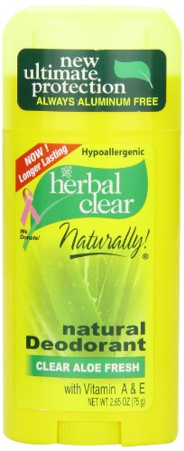 21st Century Herbal Clear Deodorant, Aloe Fresh, 2.65 Ounce
