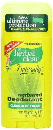 21st Century Herbal Clear Deodorant, Aloe Fresh, 2.65 Ounce