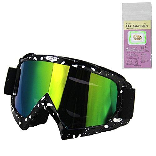 Outdoor Sports Adjustable Antifog Motocross Motor Bike Cycling Racing Driving Wrap Goggles Summer Sunglasses Sun Proof UV Protection Mask Protective Eyewear Safety Eye Glasses for Kids Men Women - Lacrosse Sunglasses Spy