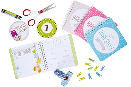 """NEW! Baby First Year Memory Mini Book for Two Moms LGBT Family. Smokey Gray """"Modernista""""(TM), Poly Cover. Intimate, travel size memory keeper record book and journal. 5x5"""" - Great Shower Gift!"""