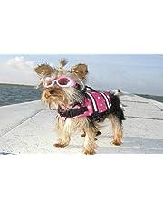 Swimming Water Pet Life Jacket Life Preserver Vest Saver Pet Dog Saver Life Vest Coat Flotation Float Life Jacket Aid Buoyancy for Doggy Puppy Neon Hound Safety Aquatic Saver Rose XXS