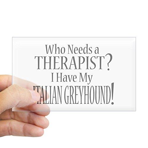 CafePress Therapist Italian Greyhound Rectangle Bumper Sticker Car Decal
