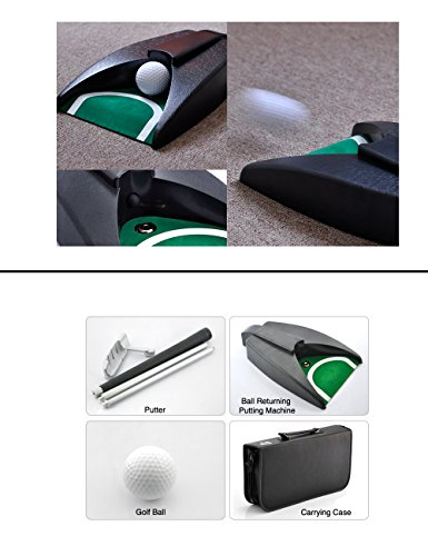 LEAGY Portable Golf Putter Travel Practice Putting Set with Case ...