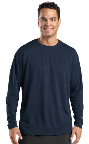 Sport Tek Mesh Shirt (Sport-Tek Dri-Mesh Long Sleeve T-Shirt. XL Navy)