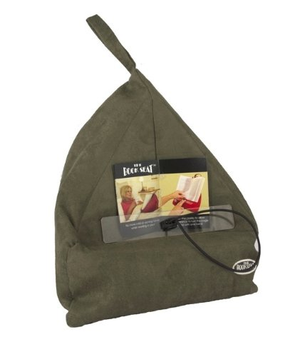 The Book Seat - Book Holder and Travel Pillow - Olive