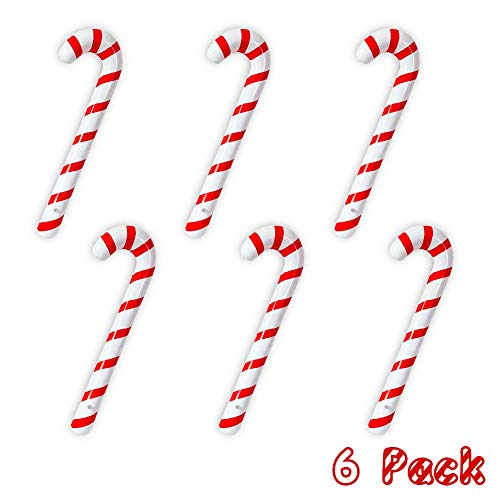 Candy Cane Props (Joliyoou Inflatable Candy Canes for Christmas Decorations, Candy Canes Balloons for Party Decorations, Outdoor Candy Canes Decorations, 6)