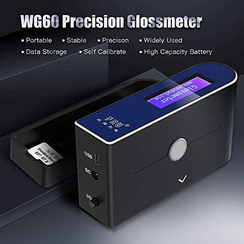 A Variety of Functions Portable Universal Smart Brightness Meter ZHWDD Gloss Meter Measuring Tools Automatic Continuous Measurement and Accurate Gloss Meter