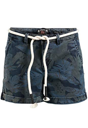 Pantalón Para Relaxed Corto Dunkelblau Mujer Palmen Khujo qCdRwz7xqn