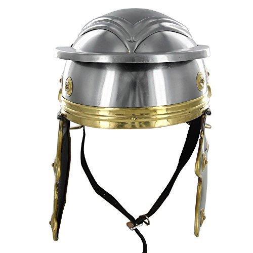 Roman Trooper 20g Steel Galea Helmet (Steel Roman Helmet)