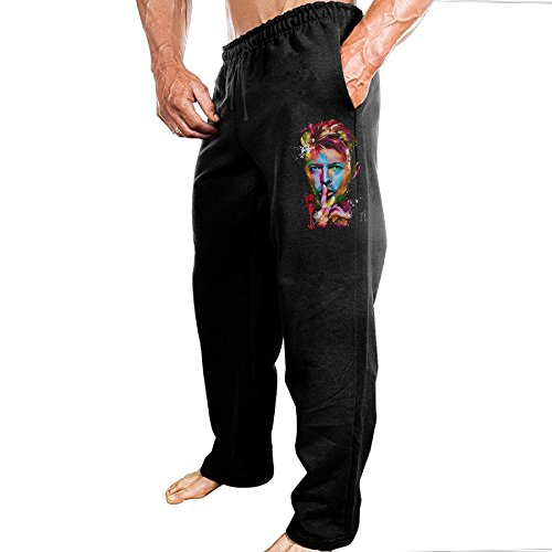 David Bowie Colorful Man Light Weight Pure Cotton Sweatpants Joggers Pants For (Jones Sweat Light)
