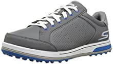 Skechers Men's Go Drive 2 Relaxed Fit Golf-Shoes,charcoal/blue,10 M US