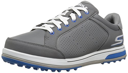 Skechers Men's Go Drive 2 Relaxed Fit Golf-Shoes,charcoal/blue,12.5 M US