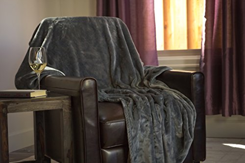 """Higher Comfort Oversized Luxuriously Soft Throw Blanket - Gray - 60"""" x 72"""" - Perfect as All-Season(s) Couch Blanket or Bed Throw"""