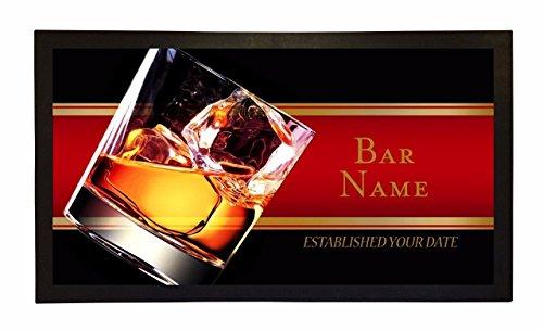 Bang Tidy Clothing Bar Runner Whisky Glass Drip Spill Mat Personalized Bar Gifts by Bang Tidy Clothing