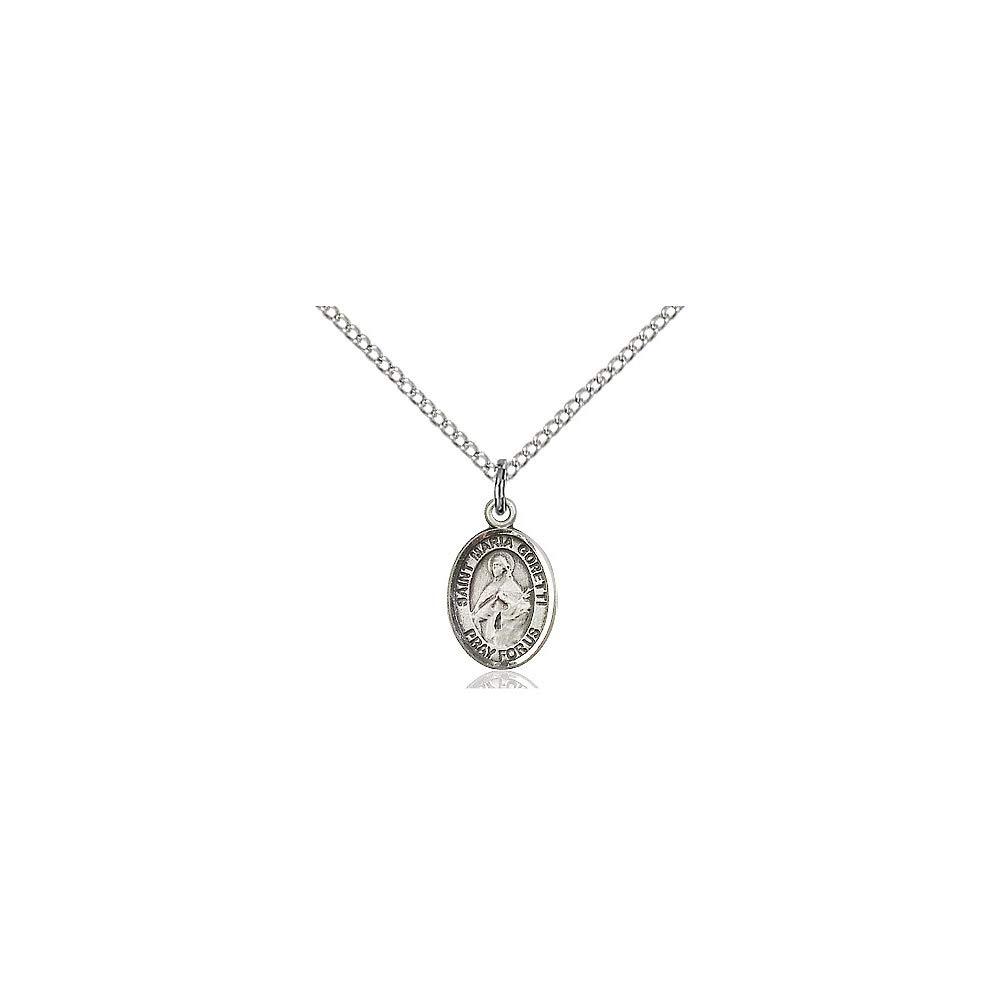DiamondJewelryNY Sterling Silver St Maria Goretti Pendant