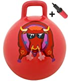 WALIKI TOYS Hopper Ball For Kids Ages 3-6 (Hippity Hop Ball, Hopping Ball, Bouncy Ball With Handles, Sit & Bounce, Kangaroo Bouncer, Jumping Ball, 18 Inches, Red, Pump Included)