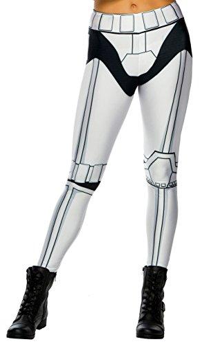 Rubie's 33921 Stormtrooper Footless Leggings Teen Ladies Size 2-8 White ()