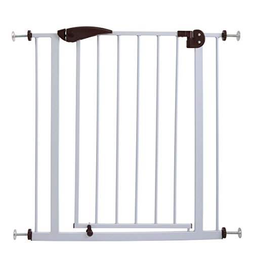 JAXPETY Baby Safety Gate Door Walk Through Child Toddler Pet Metal Best Safety Pet Gate with Door,Easy Open Walk,Prefer for Pets and Children! For Sale
