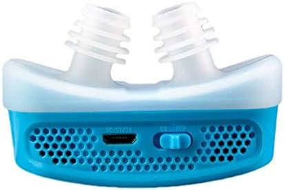 Gzeagf Anti-Schnarch-Ausrüstung Mini CPAP Anti-Schnarchen elektronisches Gerät für Schlafapnoe stoppt Schnarchen, um zu stoppen Blue
