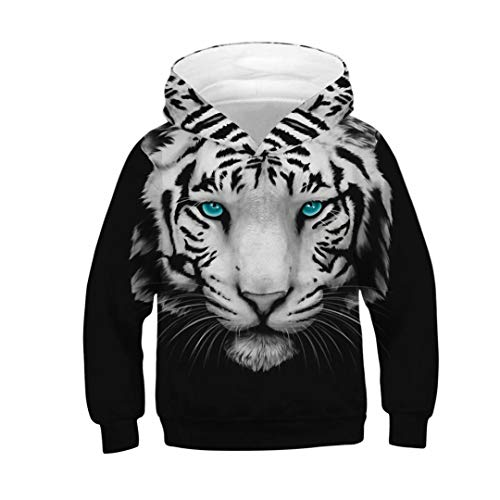 Boys Girls Kids 3D Animal Unicorn Wolf Tiger Print Hoodies Pullovers