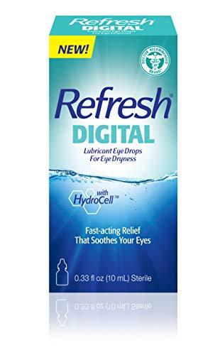 Refresh Digital Lubricant Eye Drops For Dry Eyes, 0.34 Fl Oz Sterile