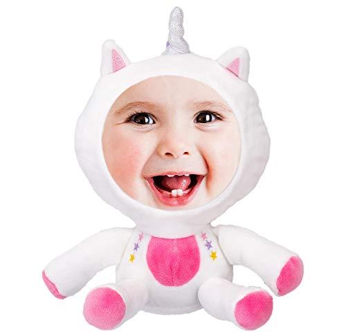 jollylife Unicorn Plush Photo Frame Decorations - Baby Shower Kids Birthday Party Supplies Decor