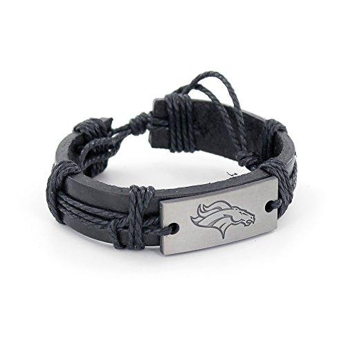 NFL Denver Broncos Vintage Leather Bracelet Leather Nfl Bracelets